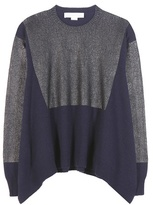 Stella McCartney Coated cashmere and wool sweater