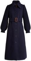 Chloé Contrast-sleeve wool-blend coat