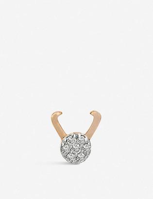 The Alkemistry Kismet by Milka Capricorn 14ct rose-gold and diamond single earring