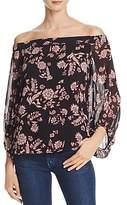 Bardot Floral Print Off-the-Shoulder Top