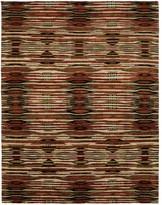 Natori Dynasty- Ethnic Ikat Dark Tones Rug