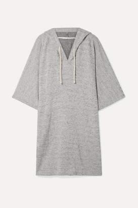 Skin - Tori Hooded Striped Pima Cotton And Modal-blend Tunic - Gray