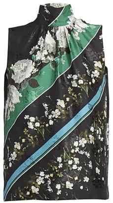 Erdem Koren Tie-Neck Daffodil-Print Blouse
