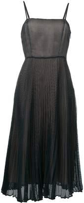 Fendi pleated mesh dress