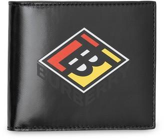 Burberry Logo Graphic Canvas International Bifold Wallet