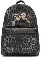 Dolce & Gabbana Printed Backpack with Patches
