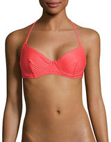 Michael Kors Striped Halterneck Bikini Top