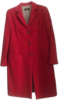 Alberto Biani Red Wool Coats