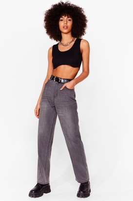 Nasty Gal Womens Not On Our Wash Boyfriend Jeans - Grey - 6
