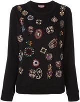 Lanvin embellished detail jersey