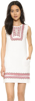 Twelfth St. By Cynthia Vincent Embroidered Flutter Dress