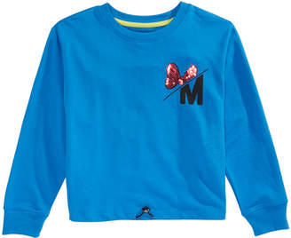 Disney Big Girls Minnie Mouse Icon Drawcord Shirt