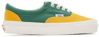 Vans Yellow and Green OG Era LX Sneakers