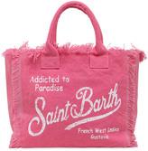 MC2 Saint Barth Logo Print Cotton Canvas Bag