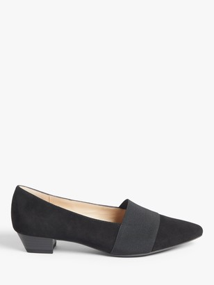 Peter Kaiser Lagos Suede Pointed Toe Court Shoes, Black