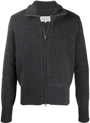 Maison Margiela Knitted Funnel Neck Jacket