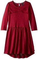 Tommy Hilfiger Bow Front Tiered Dress (Big Kids)