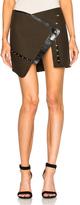 Anthony Vaccarello Open Button Down Split Mini Skirt