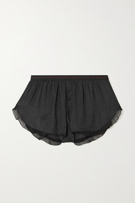 LOVE Stories Mae Satin-jacquard Pajama Shorts