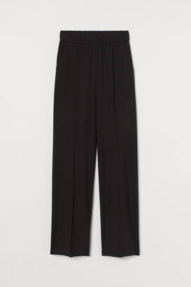 H&M Wide-leg Pull-on Pants - Black