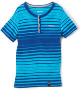 DKNY Ocean Tonal Stripe Henley - Toddler & Boys