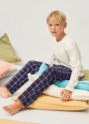 MANGO Check long pyjamas