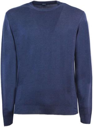 Fedeli Blue Merino Wool Sweater