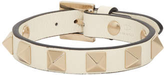 Valentino Off-White Garavani Rockstud Bracelet