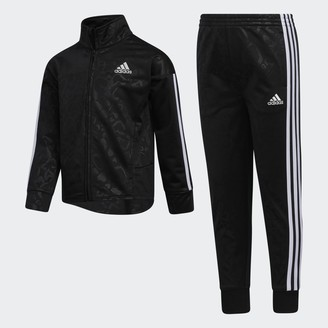 adidas Leopard Emboss Jacket and Pant Set