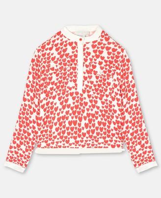 Stella Mccartney Kids Stella McCartney hearts viscose shirt