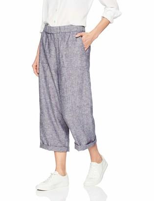 Chaus Women's Wideleg 2-Toned Linen Pants
