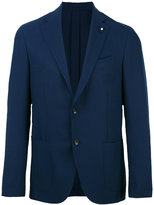 Lardini patch pockets blazer - men - Cupro/Viscose/Mohair/Wool - 48