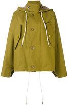 Marni oversized hooded jacket - women - Cotton/Polyurethane - 38