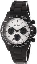 A Line a_line Women's 20050-BK-SL Amore Chronograph Dial Black Aluminum Watch