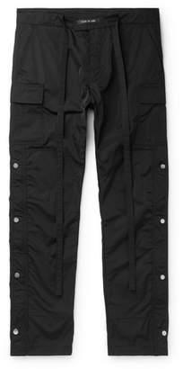 Fear Of God Black Slim-Fit Shell Drawstring Cargo Trousers