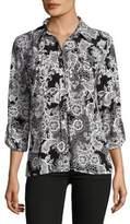 Karl Lagerfeld Paris Floral Button-Down Shirt