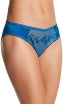 Chantelle Sheer Mesh Embroidered Brief Panty