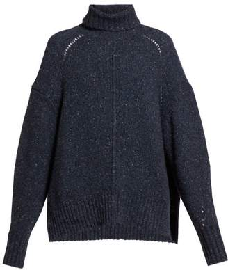 Isabel Marant Harriett Roll-neck Cashmere Sweater - Womens - Navy