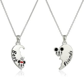 Disney Silver Plated Best Friends Pendant Jewelry Set