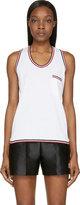 Moncler Gamme Bleu White Logo Stripe Tank Top