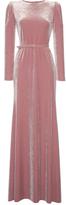 Luisa Beccaria Velvet Maxi Dress