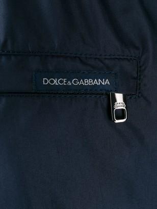 Dolce & Gabbana logo-embroidery swim shorts