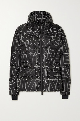 MONCLER GRENOBLE Dixence Printed Quilted Down Ski Jacket - Black