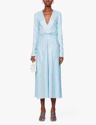 Rotate by Birger Christensen Sierra V-neck woven midi dress