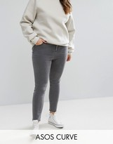 Gray High Waisted Skinny Jeans - ShopStyle