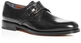 Salvatore Ferragamo Men's Tobias Leather Monk-Strap Oxfords