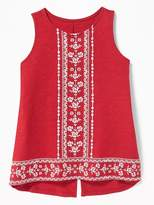 Old Navy Slub-Knit Puffy-Graphic Back-Vent Tank for Girls