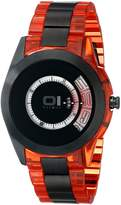01 The One 01TheOne AN08G08 42mm Stainless Steel Case Red Resin Mineral Men's Watch