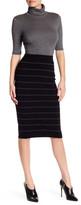 Max Studio Knit Striped Midi Skirt