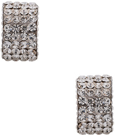 Magda Butrym Large Silver Zirconia Earrings